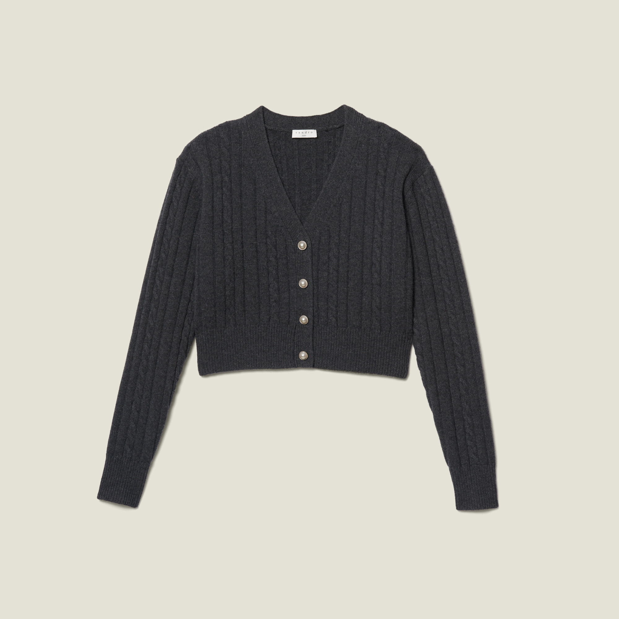 cropped cardigan sweater