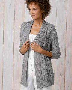 long cardigan knitting pattern free