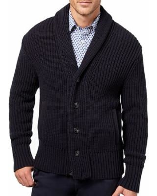 mens shawl collar cardigan